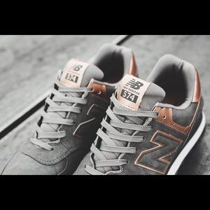 new balance 373 grey with rose gold